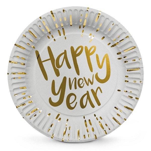 Silvester Partyteller Happy new Year 6er Set