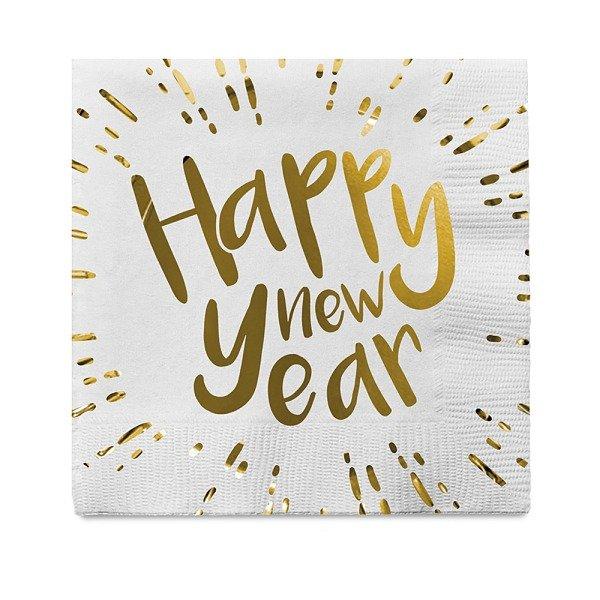 Silvester Servietten Happy new Year 12er Set