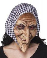 Hexen Gesichtsmaske mit Kopftuch
