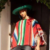 Mexiko Poncho mexikanisches Kostüm Verkleidung Fasching