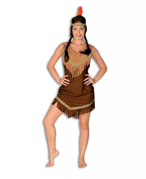 Squaw Damenkostüm Indianerin braun