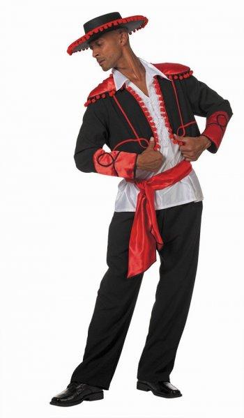 Spanier Flamenco Tänzer Herrenkostüm