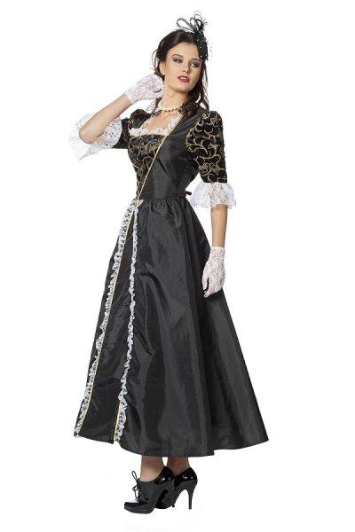 Rokoko Marquise Damenkostüm schwarz