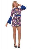 Hippie Kostüm komplett Kleid kurz sexy Blumenkleid