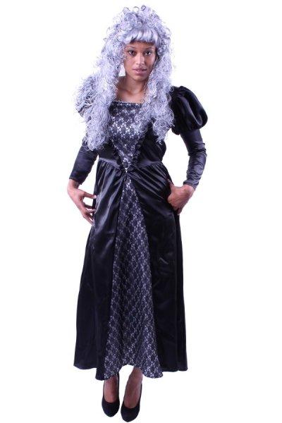 Schwarze Witwe Vampirin Halloween Kostüm Gothic Party
