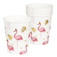 Flamingo Pappbecher 6er Set