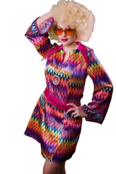 Hippiekostüm Hippiekleid Damen70er Jahre S