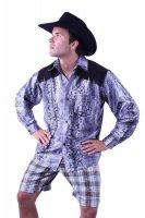 Cowboyhemd in Schlangenleder Optik Cowboy Westernhemd