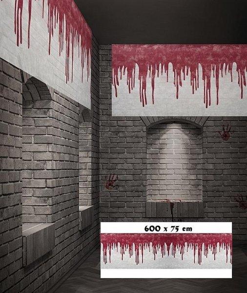 Dekostoff Fließendes Blut 600cm x 75cm