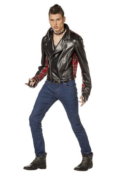 Punk Jacke für Herren in Schwarz