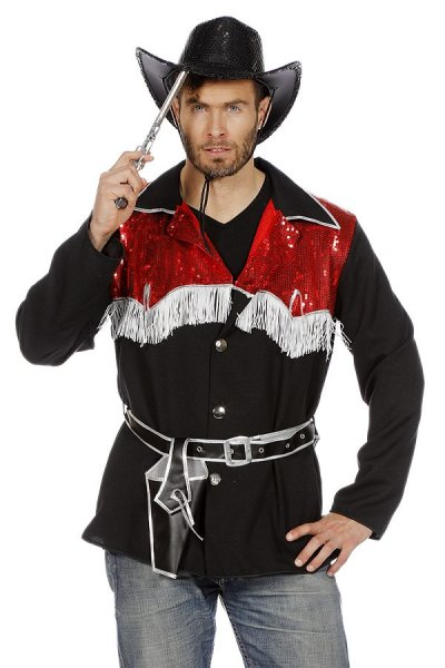 Cowboy Schwarz Rot