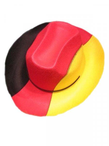 Cowboyhut Deutschland schwarz rot gold Fanartikel Hut