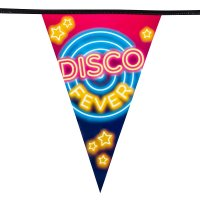 DISCO FEVER Wimpelkette 15 Wimpel