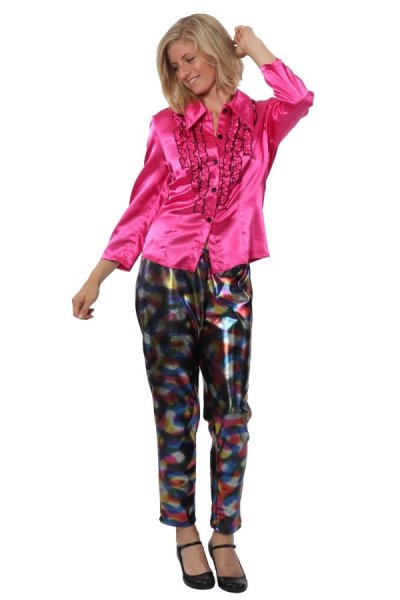 Damen Leggings bunt 70er 80er Jahre Hose Kostüm Leggins