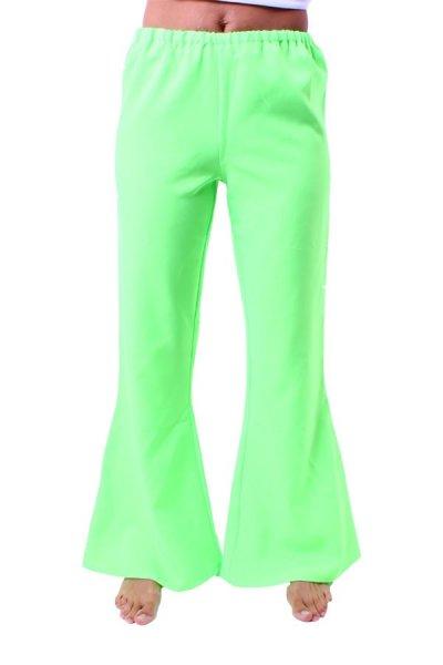Schlaghose neon Grün Damen Schlagerhose Hippie 70er 80er