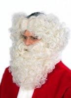 Nikolaus Lockenbart & -stirnband flachsblond Weihnachten