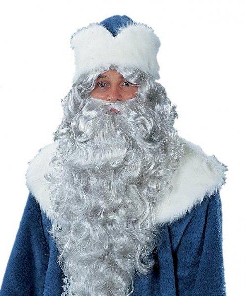 Nikolaus Väterchen Frost Bart Stirnband grau Weihnachten