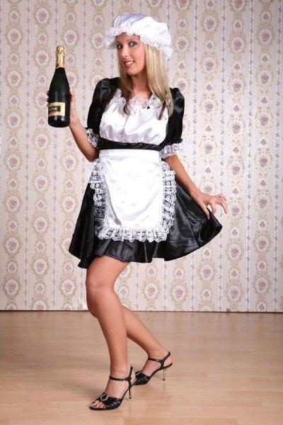 Zimmermädchen Kostüm Kellnerin sexy Hausmädchen Stubenmädchen