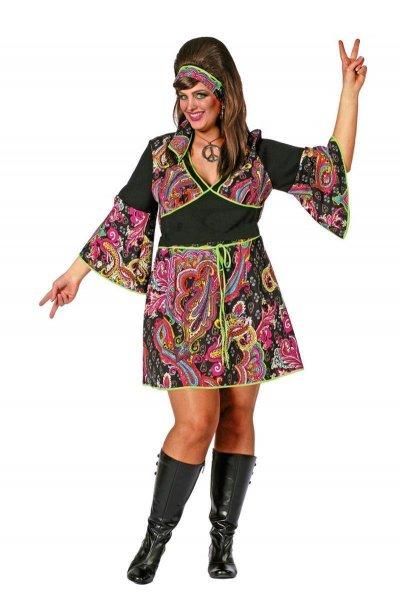 Hippiekleid Damen Hippiekostüm Kleid Frauen