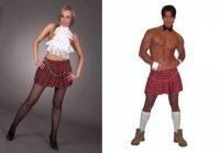 Schottenrock kurz Kilt Rock kariert Fasching Outfit