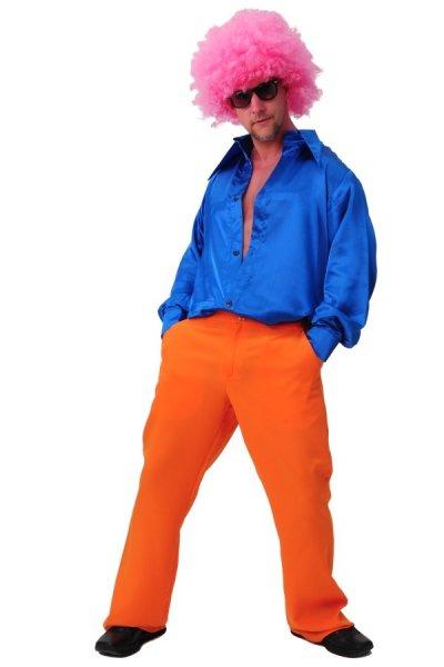 Schlagerhose orange 70er 80er Jahre Mottoparty Karneval