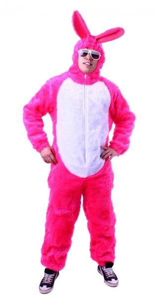 Osterhase Hasenkostüm Hasen Tier Plüschhasen Kostüm pink