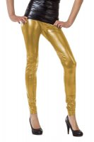 Damen Leggings in GOLD 70er 80er Jahre Hose Kostüm...