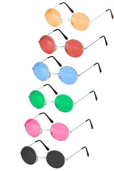 Hippie Brille Blumenkind Sonnenbrille Hippiebrille