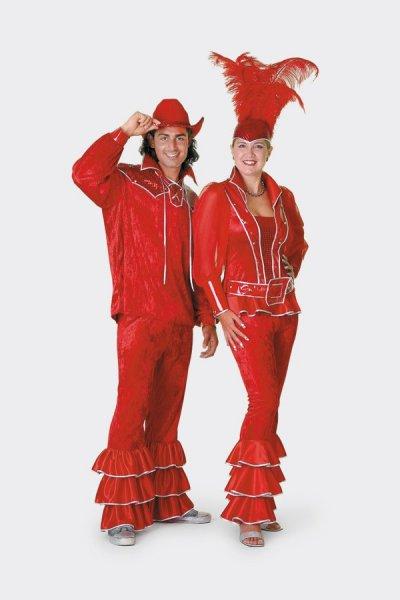 rotes Partykostüm für Damen Damenkostüm Disco Anzug