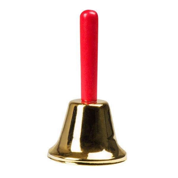 Nikolaus Christkind Weihnachtsmann Glocke mit Holzgriff ca. 12cm