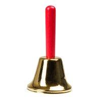 Nikolaus Christkind Weihnachtsmann Glocke mit Holzgriff...