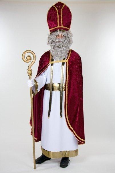 Bischof komplett Kleid Umhang Mitra Nikolaus Weihnachten