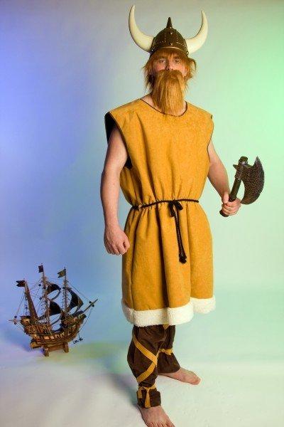 Wikinger Häuptling Kostüm Herrenkostüm Fasching