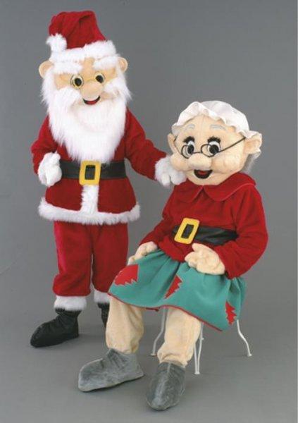 Weihnachtsmann Nikolaus Lauffigur Maskottchen Werbefigur