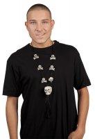 Totenkopf Halskette Halloween Schmuck Skelett Zubehör