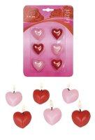 6er Pack Herzkerzen Valentinstag