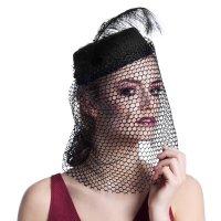 Charleston Hut 20er 30er Jahre Kopfbedeckung schwarz