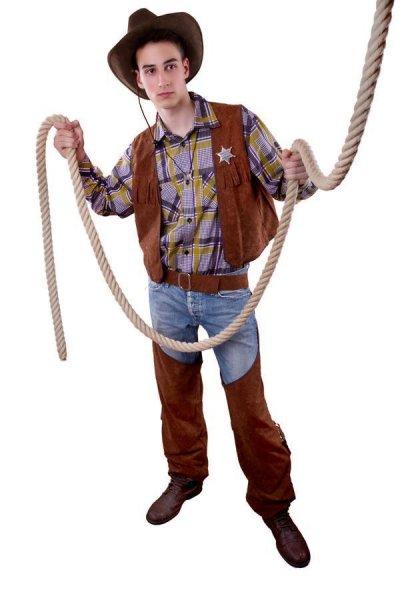 Cowboy Kostüm Herren Revolverheld Western Cowboykostüm