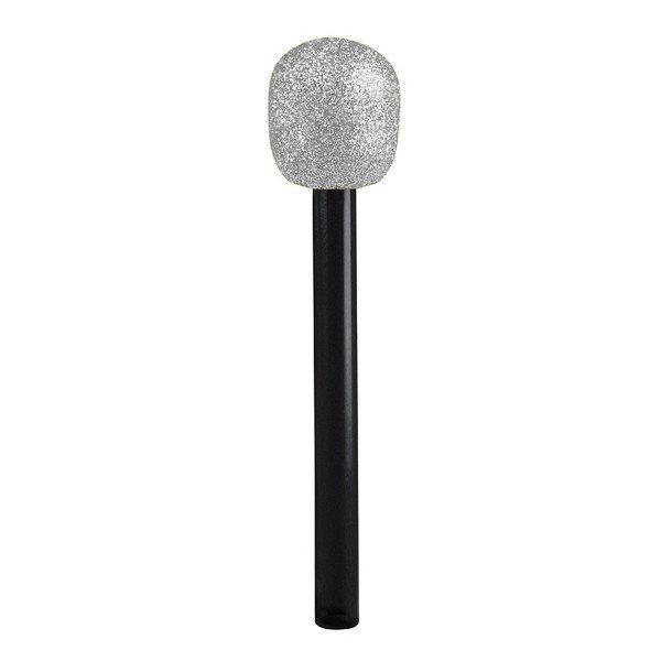 Mikrofon silber Star Sänger Fasching Karneval Zubehör