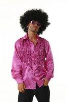 Rüschenhemd Schlagerhemd pink Partyhemd 70er Jahre...