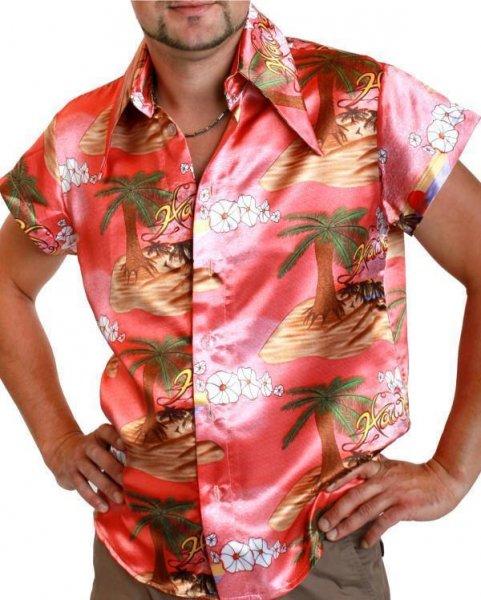 Beachparty Palmen Hawaiihemd Herren lachs