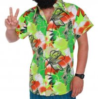 Tropen Party Retro Hemd Karneval Fasching Hawaii Hippie