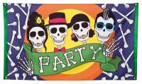 Halloween Party Flagge 90x150 Hallween Deko Crazy Skullz