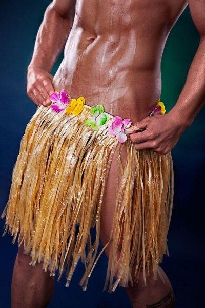 Hawaii Outfit komplettes Kostüm sexy Hula Dancer Männerballett S