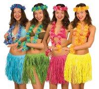 Blumenketten + Bastrock Hawaii Mottoparty Outfit