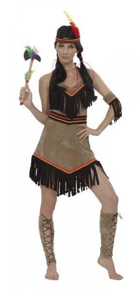 Indianer Kostüm für Damen Indianerin Indianerkostüm Fasching