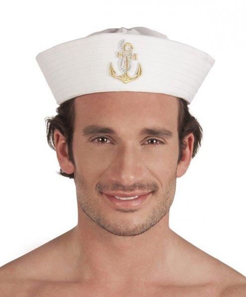 Matrosen Mütze Seemann weiß Seefahrer Hut
