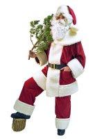 Nikolauskostüm Weihnachtsmann Anzug Samt