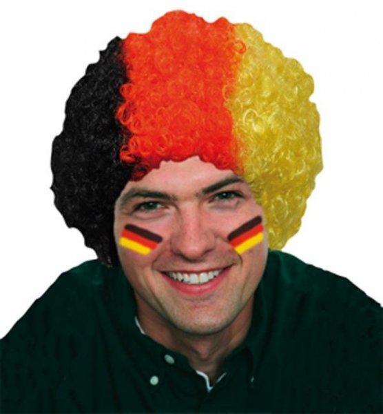 Deutschland Fan Perücke Clownperücke Afro Locken