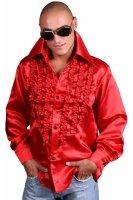 Schlagerhemd rot Retro Hemd 70er 80er Jahre Disco Look XL